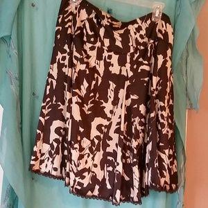 Silky flowy skirt
